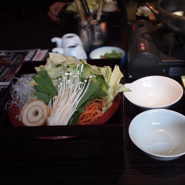 箱根強羅温泉季の湯雪月花のしゃぶしゃぶ用野菜