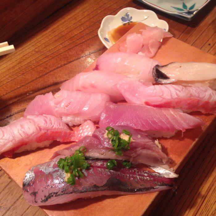 伊豆稲取金目鯛のお寿司