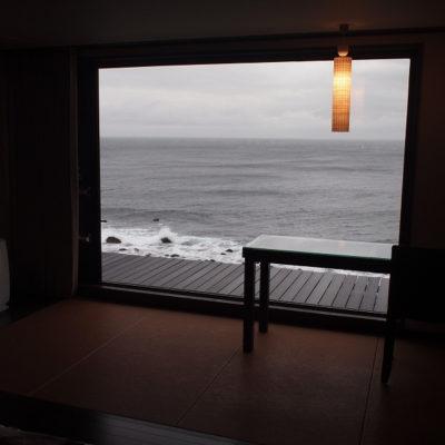 石花海オーシャンビューの部屋からの眺め