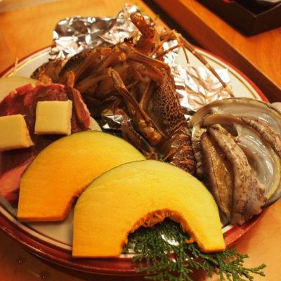 稲取温泉石花海口コミ温泉 夜の食事