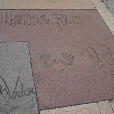 チャイニーズシアターのハリソンフォードの手形