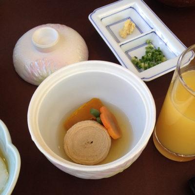 ホテル四季彩 朝食 かぼちゃの煮物