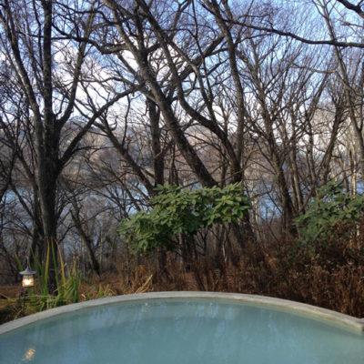 ホテル四季彩 朝の露天風呂