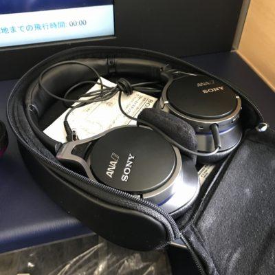 ANAファーストクラス ノイズキャンセラーのヘッドフォン