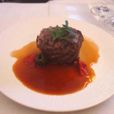 ANAファーストクラス 黒毛和牛のステーキ