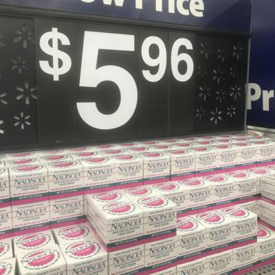 ナディノラクリーム ウォルマートでの価格