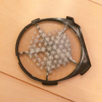 パナソニックナノケアeh-na94の裏のネジを開けてネットを掃除