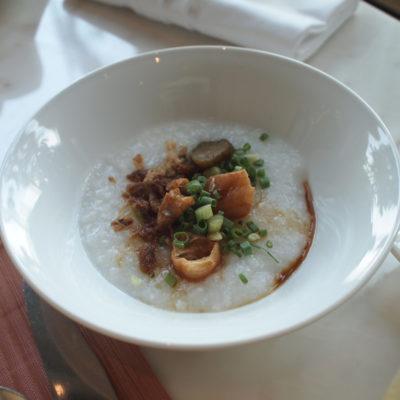 シャングリラホテルバンコク ラウンジ朝食 中華粥