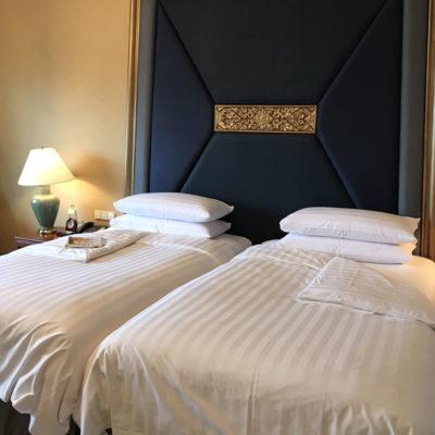 シャングリラホテルバンコククルンテープ ダブルベッド
