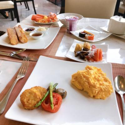 シャングリラホテルバンコク ラウンジ朝食 スクランブルエッグ