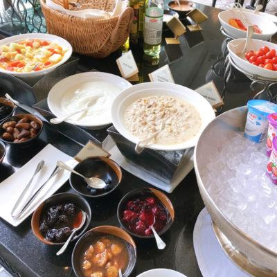 シャングリラホテルバンコク ラウンジ朝食 ビュッフェのヨーグルト