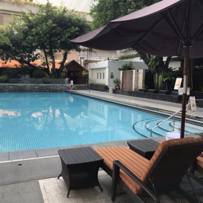 シャングリラホテルバンコクのクールテンプウィングのプール