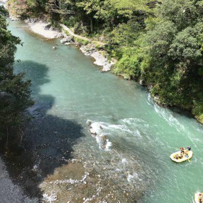 御嶽渓谷川下り