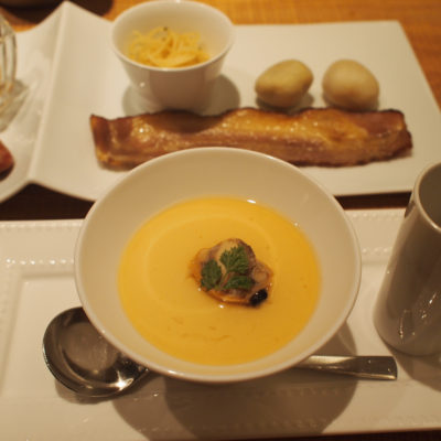 望楼NOGUCHI登別 朝食 スープ