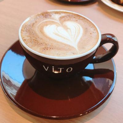 vitoカフェのカフェラテ